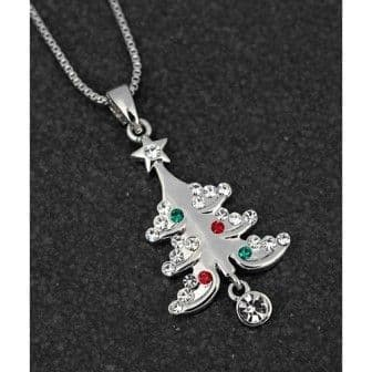 Sparkling Christmas Tree Necklace